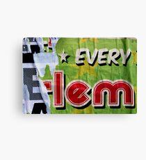 * EVERY E-lem Canvas Print