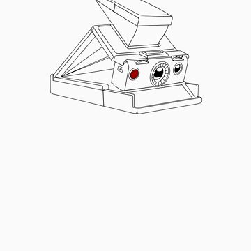 SX-70 - Black Line Art - No Text by jphphotography