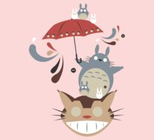 Totoro and Friends Umbrella T-Shirt