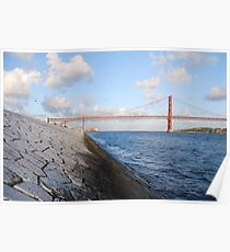 25th April bridge in Lisbon Poster