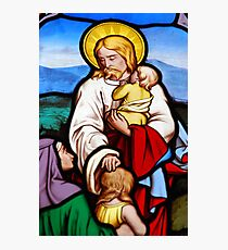 Religious stained glass window Photographic Print