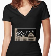 Paper Birds Women's Fitted V-Neck T-Shirt