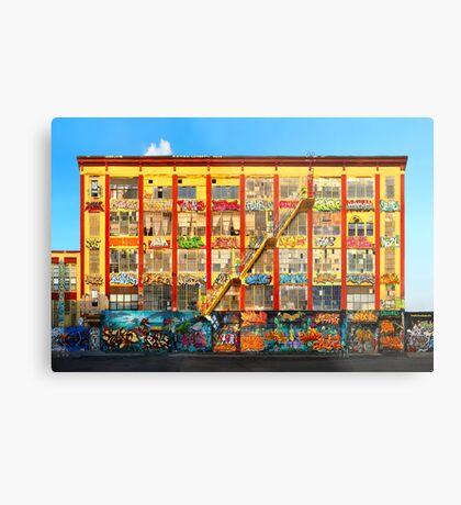 Five Pointz Graffiti Building: Queens, NYC Metal Print