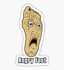 Angry Foot Sticker