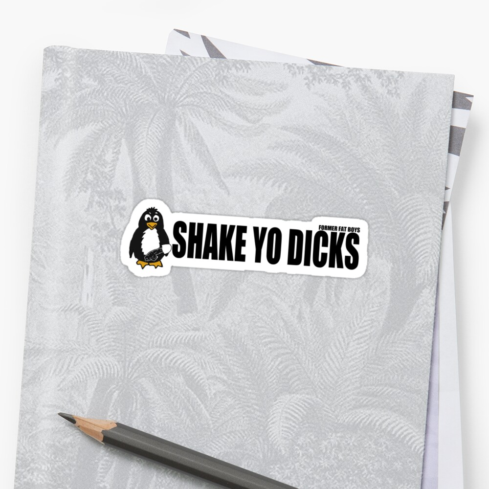 Shake Yo Dicks - Penguin - Black by formerfatboys