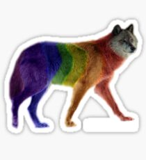 Horny Like A Gay Wolf - Giant Wolf Only Sticker