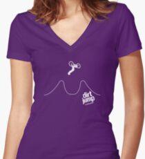Dirt Jump Women's Fitted V-Neck T-Shirt