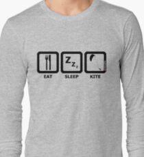 Eat Sleep Kite Long Sleeve T-Shirt