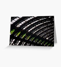 Milan train station dome Greeting Card