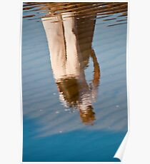 Reflection in a puddle on Omaha Beach, France Poster
