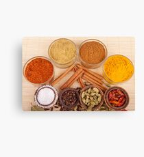Spices and herbs Canvas Print