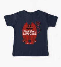 REAL MEN LOVE CATS Kids Clothes