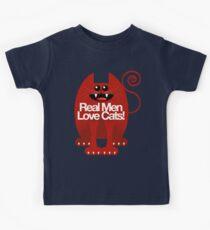 REAL MEN LOVE CATS Kids Tee