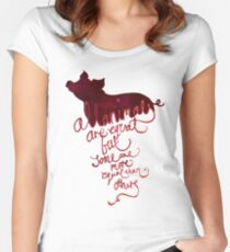 All Animals are Equal Women's Fitted Scoop T-Shirt
