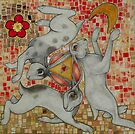Three Hares by Lynnette Shelley