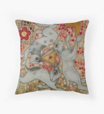 Three Hares Throw Pillow