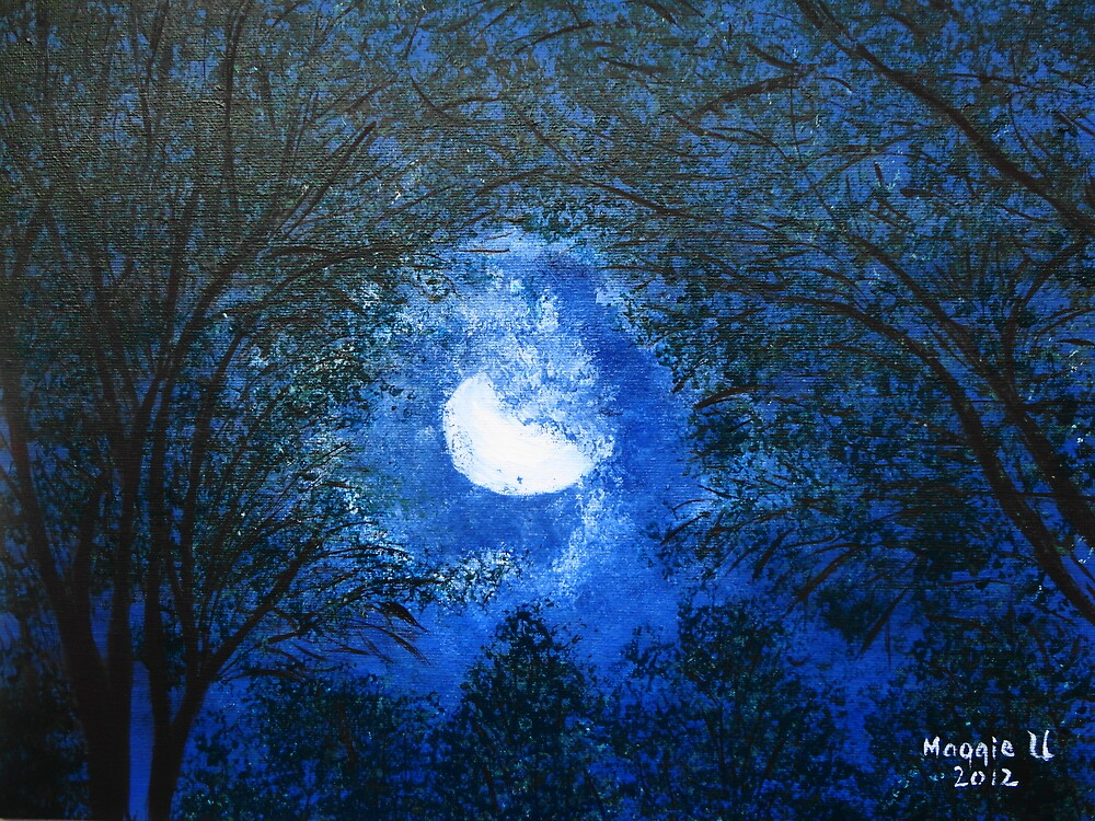 Moonlit trees by maggie326