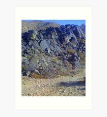Remnants of Cretaceous volcanic rocks  Art Print