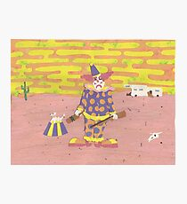 Solitary Clown Photographic Print