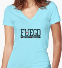 Rogue Fuego Women's Fitted V-Neck T-Shirt