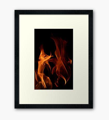 Flame Dancers Framed Print