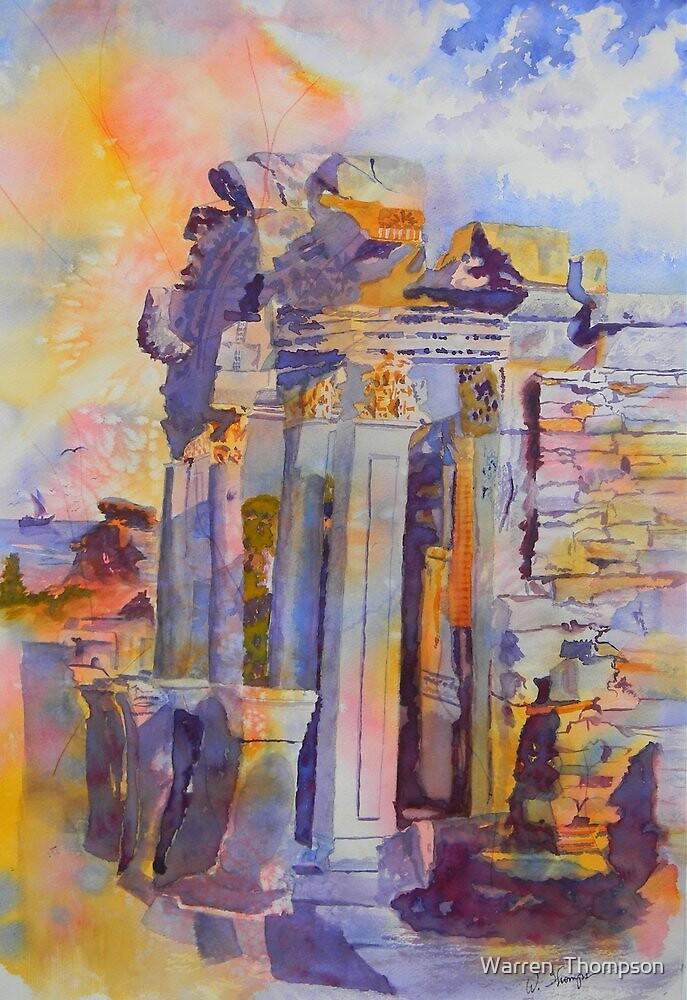 Ephesus Ruins by Warren  Thompson