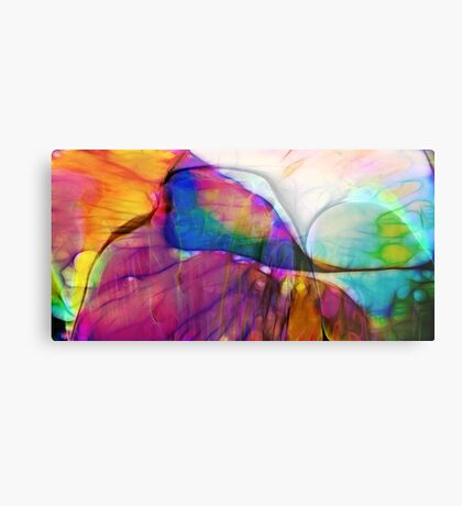 Coloured Abstract Metal Print