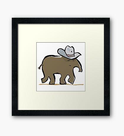 the lone tapir Framed Print