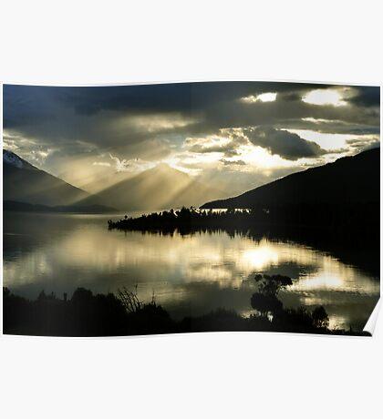Lake Te Anau. South Island, New Zealand Poster