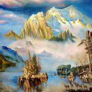 Rocky Mountains after Albert Bierstadt by Hidemi Tada