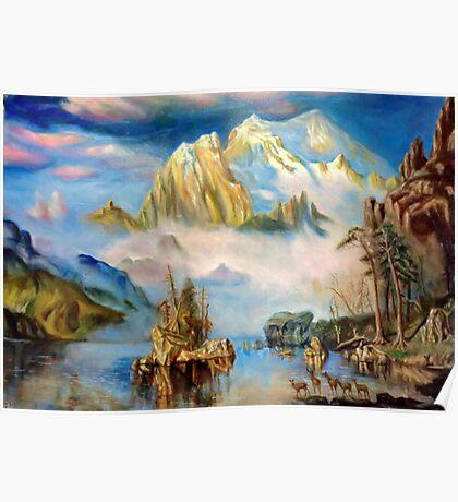 Rocky Mountains after Albert Bierstadt Poster