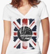 God Save the Alien Queen Women's Fitted V-Neck T-Shirt