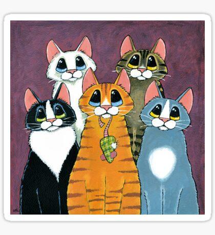 A Feline Family Portrait Sticker