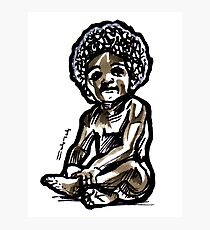 Baby with an afro Photographic Print