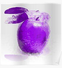 Purple Apple Painting Poster