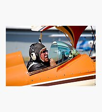 Old Airplane Pilot Photographic Print