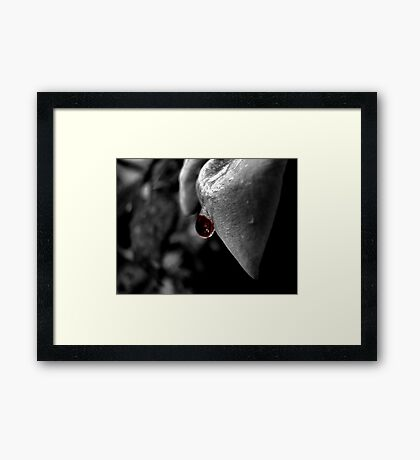 IT all Washes away in the end...... Framed Print