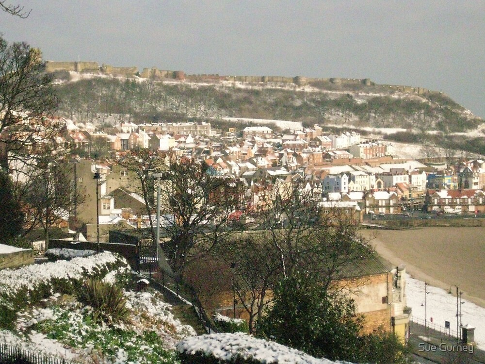 Scarborough in the snow. by Sue Gurney