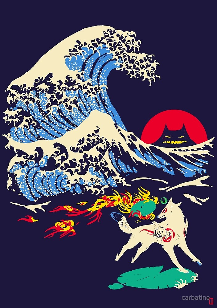 The Great Wave off Oni Island by carbatine