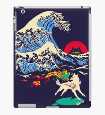 The Great Wave off Oni Island iPad Case/Skin