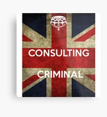 consulting criminal Metal Print