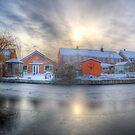 Icy River Panorama by Yhun Suarez
