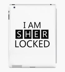 i am sher locked iPad Case/Skin