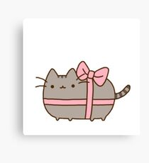 present kitty Canvas Print