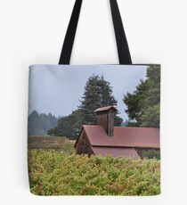 Old Apple Dryer Amongst The Vines Tote Bag
