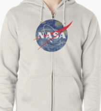 NASA starry night Zipped Hoodie