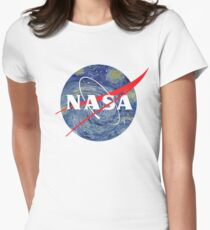 NASA starry night Women's Fitted T-Shirt