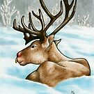 Reclining Rudolph by ria gilham