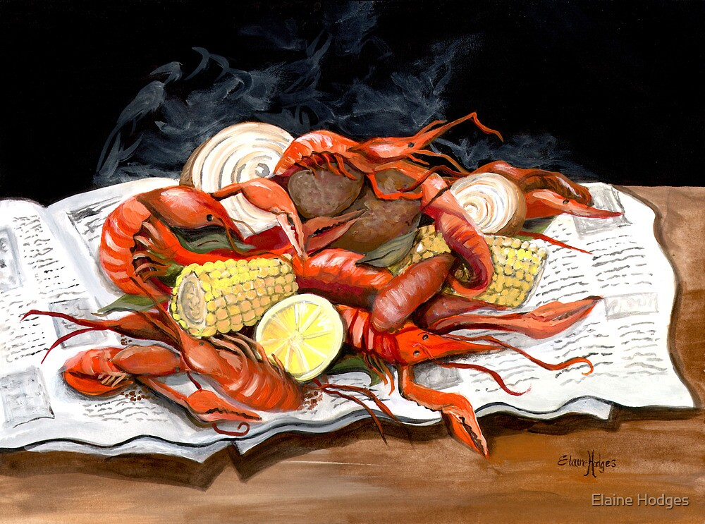 Steamy Crawfish by Elaine Hodges
