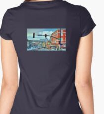 After A Snowstorm In Prescott Arizona  Women's Fitted Scoop T-Shirt